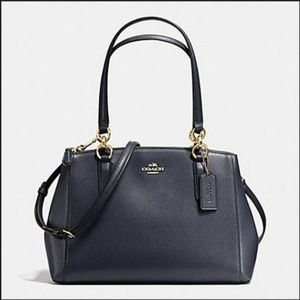 38 Coach Mini Christie Carryall Crossgrain Leather